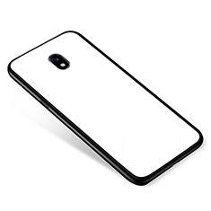 Carcasa Bumper Funda Silicona Espejo para Samsung Galaxy J5 Pro (2017) J530Y Blanco