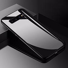 Carcasa Bumper Funda Silicona Espejo para Samsung Galaxy S10 5G Negro
