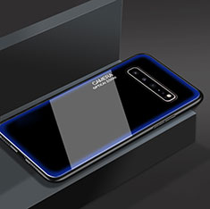 Carcasa Bumper Funda Silicona Espejo para Samsung Galaxy S10 5G SM-G977B Azul