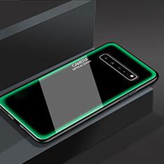 Carcasa Bumper Funda Silicona Espejo para Samsung Galaxy S10 5G SM-G977B Verde