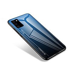 Carcasa Bumper Funda Silicona Espejo para Samsung Galaxy S20 FE 5G Azul