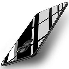 Carcasa Bumper Funda Silicona Espejo para Samsung Galaxy S9 Negro
