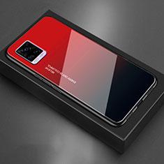Carcasa Bumper Funda Silicona Espejo para Vivo V20 Rojo