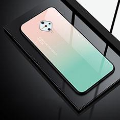Carcasa Bumper Funda Silicona Espejo para Vivo X50 Lite Verde