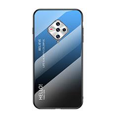 Carcasa Bumper Funda Silicona Espejo para Vivo X50e 5G Azul