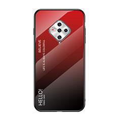 Carcasa Bumper Funda Silicona Espejo para Vivo X50e 5G Rojo
