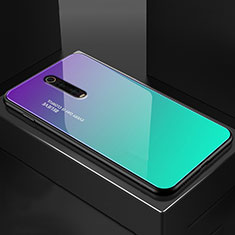Carcasa Bumper Funda Silicona Espejo para Xiaomi Mi 9T Cian