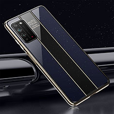 Carcasa Bumper Funda Silicona Espejo T01 para Huawei Honor X10 5G Azul