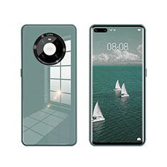 Carcasa Bumper Funda Silicona Espejo T01 para Huawei Mate 40 Pro Verde