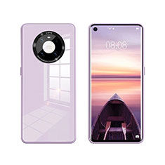Carcasa Bumper Funda Silicona Espejo T01 para Huawei Mate 40 Purpura Claro
