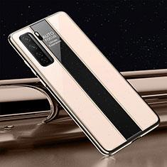 Carcasa Bumper Funda Silicona Espejo T01 para Huawei Nova 7 SE 5G Oro