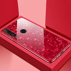 Carcasa Bumper Funda Silicona Espejo T01 para Huawei P30 Lite Rojo