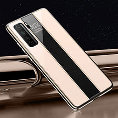 Carcasa Bumper Funda Silicona Espejo T01 para Huawei P40 Lite 5G Oro
