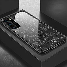 Carcasa Bumper Funda Silicona Espejo T01 para Huawei P40 Negro