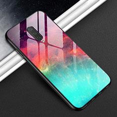 Carcasa Bumper Funda Silicona Espejo T01 para OnePlus 8 Cian