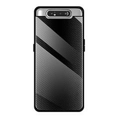 Carcasa Bumper Funda Silicona Espejo T01 para Samsung Galaxy A80 Negro