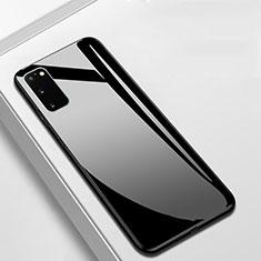 Carcasa Bumper Funda Silicona Espejo T01 para Samsung Galaxy S20 5G Negro
