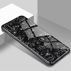 Carcasa Bumper Funda Silicona Espejo T02 para Huawei P20 Negro