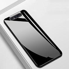 Carcasa Bumper Funda Silicona Espejo T02 para Samsung Galaxy A80 Negro