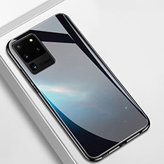 Carcasa Bumper Funda Silicona Espejo T02 para Samsung Galaxy S20 Ultra 5G Negro