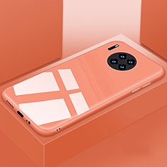 Carcasa Bumper Funda Silicona Espejo T03 para Huawei Mate 30 5G Naranja