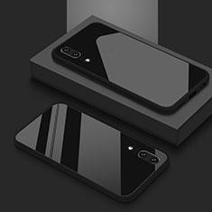 Carcasa Bumper Funda Silicona Espejo T03 para Huawei P20 Negro