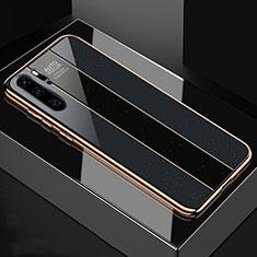 Carcasa Bumper Funda Silicona Espejo T03 para Huawei P30 Pro Negro