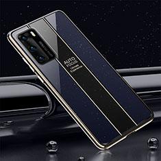 Carcasa Bumper Funda Silicona Espejo T03 para Huawei P40 Azul