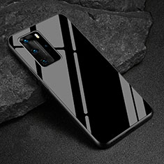Carcasa Bumper Funda Silicona Espejo T03 para Huawei P40 Pro Negro