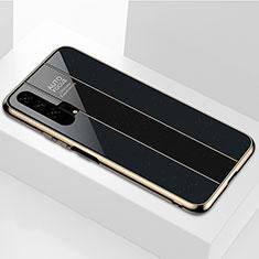 Carcasa Bumper Funda Silicona Espejo T04 para Huawei Honor 20 Pro Negro