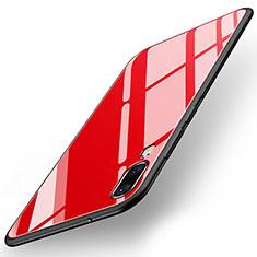 Carcasa Bumper Funda Silicona Espejo T04 para Huawei P20 Rojo