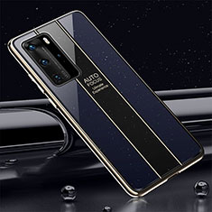Carcasa Bumper Funda Silicona Espejo T04 para Huawei P40 Pro Azul