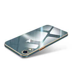 Carcasa Bumper Funda Silicona Lujo Transparente Espejo para Apple iPhone XR Verde Noche