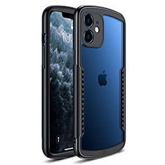 Carcasa Bumper Funda Silicona Transparente Espejo H01 para Apple iPhone 12 Mini Negro