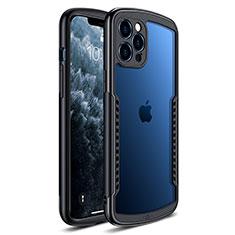 Carcasa Bumper Funda Silicona Transparente Espejo H01 para Apple iPhone 12 Pro Max Negro