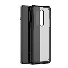 Carcasa Bumper Funda Silicona Transparente Espejo H01 para OnePlus 8 Negro