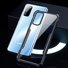 Carcasa Bumper Funda Silicona Transparente Espejo H01 para Samsung Galaxy S20 5G Negro