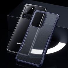 Carcasa Bumper Funda Silicona Transparente Espejo H01 para Samsung Galaxy S20 Ultra 5G Azul