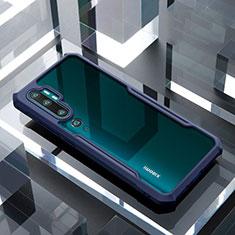Carcasa Bumper Funda Silicona Transparente Espejo H01 para Xiaomi Mi Note 10 Azul