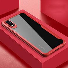 Carcasa Bumper Funda Silicona Transparente Espejo H02 para Huawei P20 Rojo