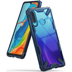 Carcasa Bumper Funda Silicona Transparente Espejo H02 para Huawei P30 Lite Azul