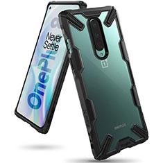 Carcasa Bumper Funda Silicona Transparente Espejo H02 para OnePlus 8 Negro