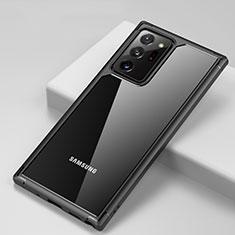 Carcasa Bumper Funda Silicona Transparente Espejo H02 para Samsung Galaxy Note 20 Ultra 5G Negro