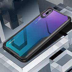 Carcasa Bumper Funda Silicona Transparente Espejo H03 para Huawei P20 Negro