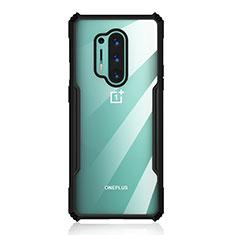 Carcasa Bumper Funda Silicona Transparente Espejo H03 para OnePlus 8 Pro Negro