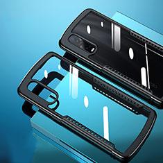 Carcasa Bumper Funda Silicona Transparente Espejo H03 para Oppo Find X2 Pro Negro