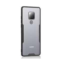 Carcasa Bumper Funda Silicona Transparente Espejo H04 para Huawei Mate 20 Negro
