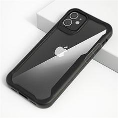 Carcasa Bumper Funda Silicona Transparente Espejo M01 para Apple iPhone 12 Max Negro