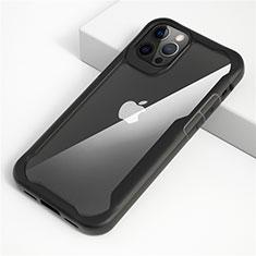Carcasa Bumper Funda Silicona Transparente Espejo M01 para Apple iPhone 12 Pro Max Negro