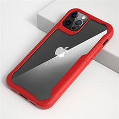 Carcasa Bumper Funda Silicona Transparente Espejo M01 para Apple iPhone 12 Pro Rojo